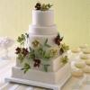 Modern Wedding Cake with Sugar Flowers