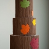 Tree Trunk Wedding Cake with Leaves