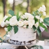 White One-Tier Wedding Cake