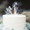 White Wedding Cake with Shells