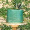 Green Metallic Wedding Cake