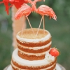 Flamingo Wedding Cake Topper