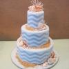 Wedding Cake with Waves