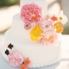 Summer Wedding Cake with Flowers