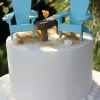 Miniature Beach Chair Cake Topper