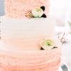 White and Pink Wedding Cake