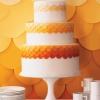 Shades of Orange Wedding Cake