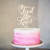 One-Tier Pink and White Wedding Cake