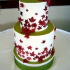 Green and Red Wedding Cake