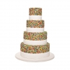 Cheerful Rainbow Wedding Cake