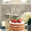 'Hitched' Wedding Cake Topper