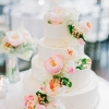 Spring-Inspired Wedding Cake with Fresh Flowers