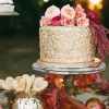 One-Tier Metallic Wedding Cake