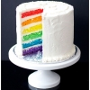 Simple Rainbow Wedding Cake