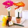 Fun Wedding Favors: Flower Pot Pens