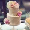Wedding Cake with Garden Flowers
