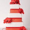 Red Polka Dot Wedding Cake