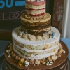 Multi-Tier Unfrosted Wedding Cake