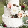 Wedding Cake with Gold-Dusted Berries