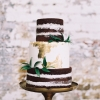 Rustic and Gold Wedding Cake