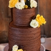 Whimsical Chocolate Wedding Cake