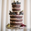 Naked Chocolate Wedding Cake for Fall