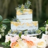 Gold and White Wedding Cake for Fall