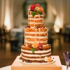 Naked Wedding Cake for Fall