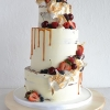 Wedding Cake with a Caramel Drizzle