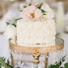 One-Tier Rose Wedding Cake
