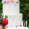 Confetti Wedding Cake with Cake Pops