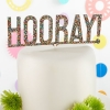 Hooray Glitter Cake Topper