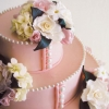 Pink and Pearl Wedding Cake