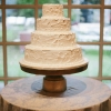 Simple, Rustic Wedding Cake
