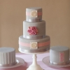 Elegant Gray Wedding Cake