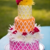 Colorful Summertime Wedding Cake