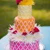 Colorful Summertime Wedding Cake