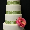 Modern Green and White Wedding Cake