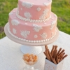 Two-tier Vintage Pink Wedding Cake