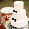 Black and White Bow Tie Cake