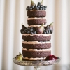 Naked Chocolate Cake for Fall