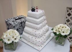 Flower Waterfall Wedding Cake