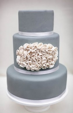 Ruffle Cake by Erica O'Brien Cake Design.  Photo by Ashley Taylor Photography