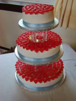 gummy heart wedding cake