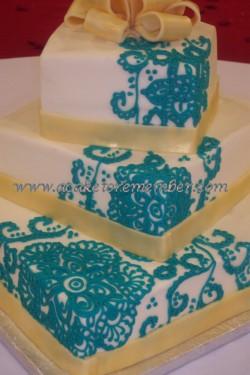 mendhi_pattern a Cake to Remember