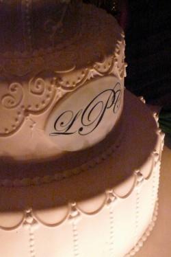 Sepia Monogram Cake