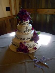 Chocolate Scrollwork Cake