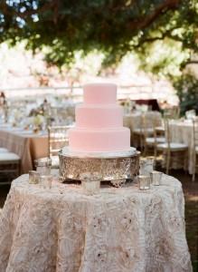 Stunning Pink wedding cake