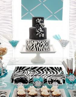 Zebra and Tiffany Blue