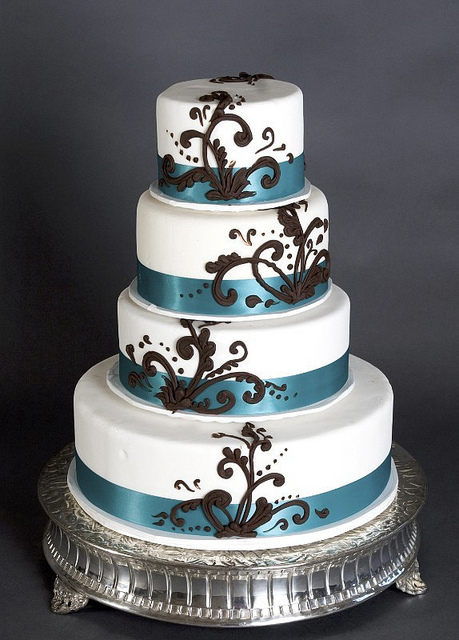 teal blue and brown wedding cakes brown and blue wedding cakes a wedding cake 20775